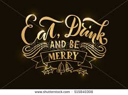lettering eat drink be merry happy stock vector 515840308