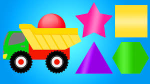 colors for children learning with color shapes colour truck for