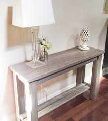entryway inspiration living room amazing distressed wood sofa table for modern