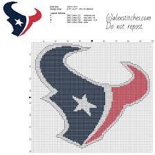 cross stitch pattern design software houston texans national football league nfl team free cross stitch