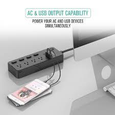 wall mounted surge protector nekteck power strip surge protector flat wall plug with 4 ac