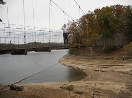 the swinging bridge at dale hallow lake near celina tn places i