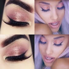 ariana grande focus makeup tutorial maquiagem rosé