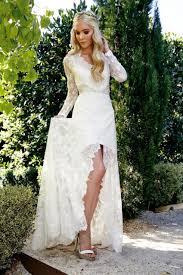 discount 2015 long sleeves wedding dresses v neck beaded sash