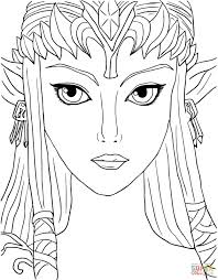 legend zelda twilight princess coloring free printable