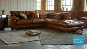 Furniture Leather Sofa Corner Chaise Leather Sofa Fusion Furniture Village Youtube