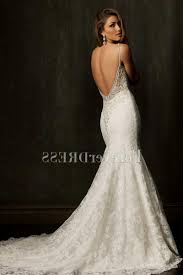 lace mermaid wedding dress with straps naf dresses