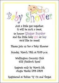 exle baby shower invites paperinvite