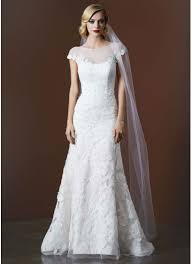 illusion neckline wedding dress tulle trumpet wedding gown with illusion neckline david s bridal