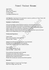 Fitness Instructor Resume Sample Travel Trainer Sample Resume