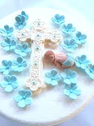baby cake topper boy 20pcs edible fondant baptism christening