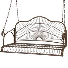 bench hanging bench bcp iron patio hanging porch swing chair