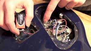 9 volt battery clip replacement on a bass guitar youtube