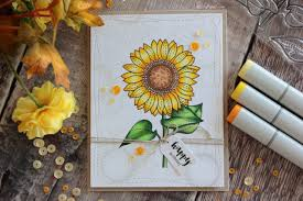 coloring birthday cards little crafty pill copic coloring sunflower birthday card