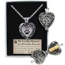 amazon com cathedral art pet memorial urn locket heart shaped