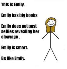 Emily Meme - this is emily emily has big boobs emily does not post selfless