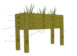 Free Wooden Box Plans by Ana White Elevated Planter Box Diy Projects