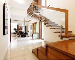 Duplex Stairs Design Spacious Bungalore Duplex Interior Design With Floating Wooden
