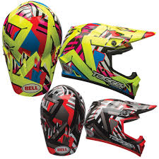 bell helmets motocross bell mx 9 seven soldier w mips mens motocross off road dirt bike