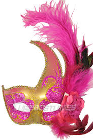 mardi gras mask with feathers mardi gras swan mask hot pink gold purecostumes
