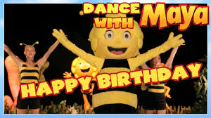 maya bee happy birthday dance dance maya