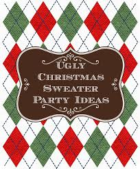 Ugly Christmas Sweater Decorations Ugly Christmas Sweater Party Ideas Unique Christmas Decorations