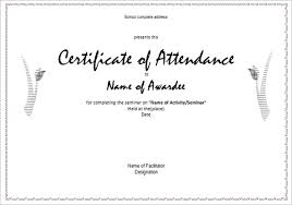 certificate of completion free template word attendance certificate templates u2013 23 free word pdf documents