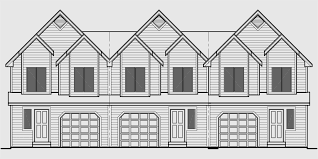 Multi Family Home Floor Plans Triplex House Plans Multi Family Homes Row House Plans