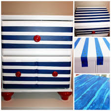 diy striped dresser creole contessa