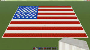 The Amarican Flag Minecraft American Flag With Real Stars Minecraft Project