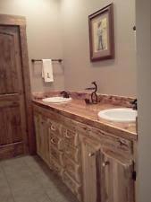 Log Vanity Rustic Bathroom Vanity Ebay