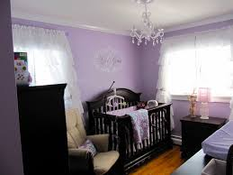 Little Girls Bedroom Curtains Baby Girls U0027 Nursery Black Crib Ruffled Curtains And Chandeliers