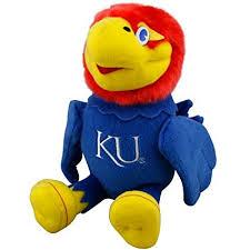 kansas jayhawks fan gear amazon com kansas jayhawks 10 plush team mascot stuffed animal
