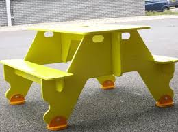 knock down picnic table plans flat pack for storage plywood picnic table