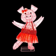 Home Depot Christmas Lawn Decorations by Home Accents Holiday 32 In Pre Lit Acrylic Pink Pig Ty048 1411
