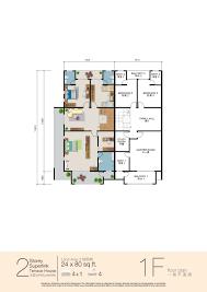 double storey terrace house 24 u0027 x 80 u0027
