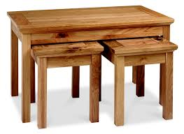provence oak nest of coffee tables free delivery