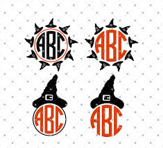 halloween hats svg cut files for cricut and silhouette witch hat monogram