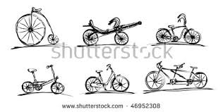 illustrated simple bikes sketch style stock illustration 46952308