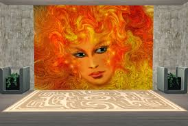 theninthwavesims the sims 2 lady of the sun paneling walls mural download here