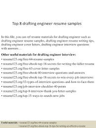 drafting resume examples top8draftingengineerresumesamples 150614080857 lva1 app6892 thumbnail 4 jpg cb 1434269384
