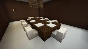 minecraft how to make a dining table youtube