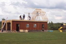 100 building a gambrel roof arrow dakota 10 ft x 14 ft