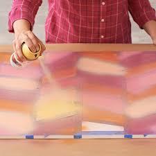 herringbone spray painted wall art