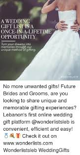 wedding gift meme a wedding gift list is a once in a lifetime opportunity turn your
