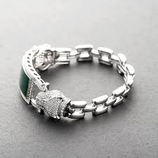 stone silver bracelet images Sbg421w custom 925 silver smart men jade stone bracelet jewelry jpg