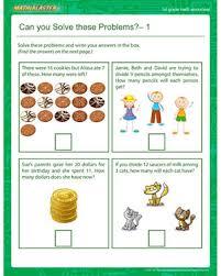 can you solve these problems u2013 1 u2013 1st grade math worksheet