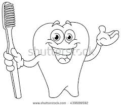 Tooth Coloring Page Drawn Teeth Coloring Page Pencil And In Color Brushing Teeth Coloring Pages