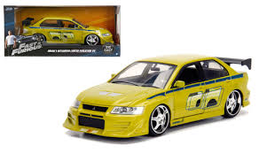 fast and furious evo lancer evo iii fast furious 1 24 scale diecast car model by jada 99788