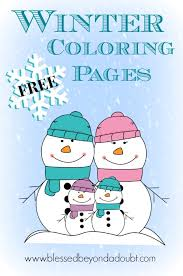 free winter coloring pages ages blessed doubt